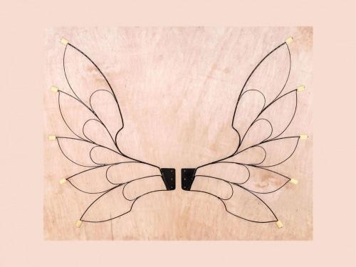 fairy fire wings, fire wings, fire crown, fire spinning wings