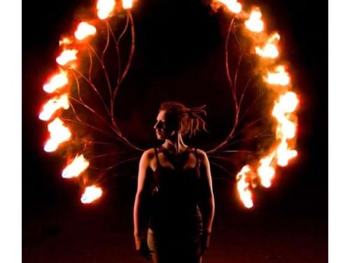 fire wings, fire fairy wings