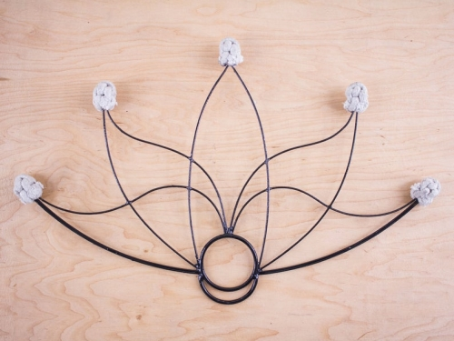 Lotus Fire Fan with 5 Wicks