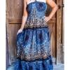 hippie dress, gypsy dress, Bandeau Maxi Dress, maternity dress, boho dress, festival clothes, festival dress, sun dress, pattern dress,
