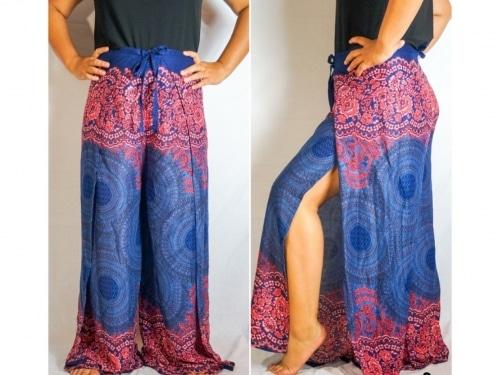 boho clothing, boho wrap pants, hippie wrap pants, pattern wrap pants